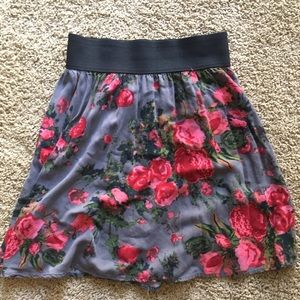 Made with love ❤️ floral skater skirt